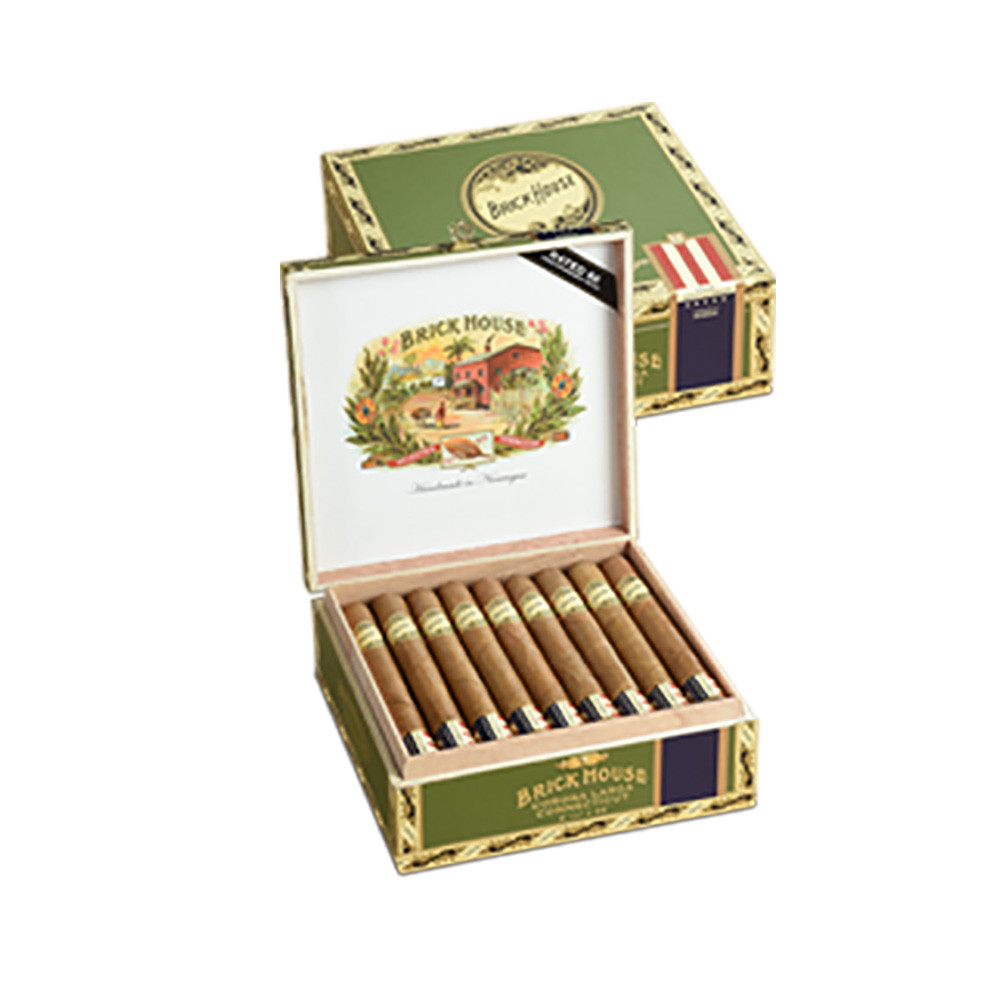 Brick House Double Connecticut Robusto Cigars - Natural Box of 25