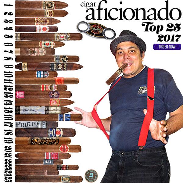2017 Top 25 Cigars by Cigar Aficionado. Cuban Cigars has been replaced by some Cuenca Cigars Favorite smokes.