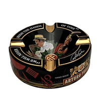 Arturo Fuente Journey Through Time Black Ashtray - Holds 4 Cigars