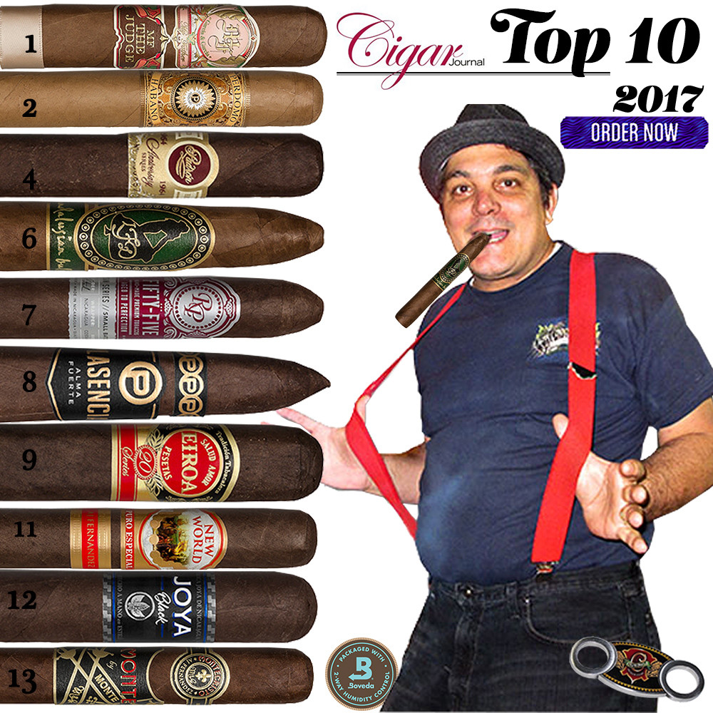 2017 Top 10 Cigars by Cigar Journal