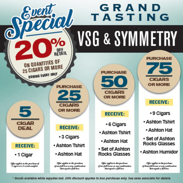 Ashton Grand Tasting Special Event - Symmetry and VSG