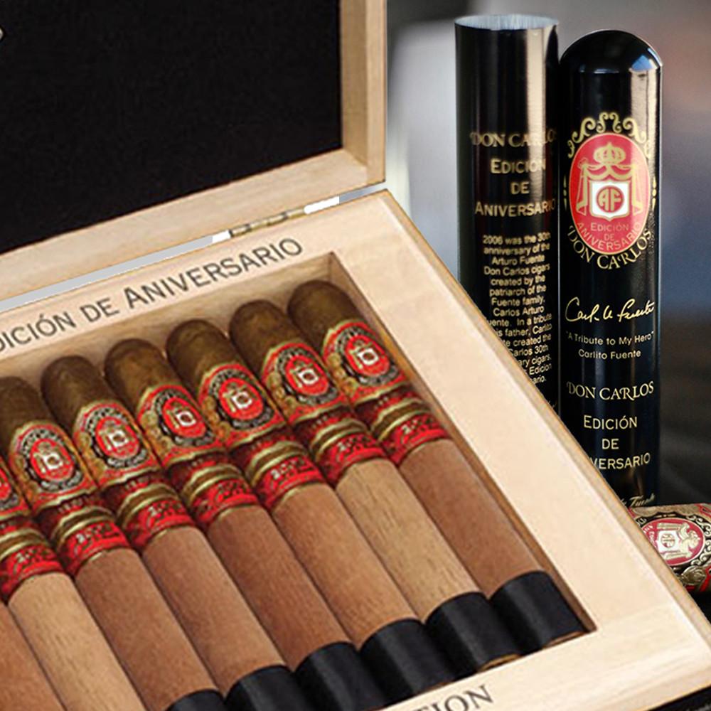 Arturo Fuente Don Carlos Edicion de Aniversario Double Robusto Tubo - Box of 8