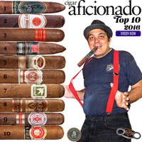 2016 Top 10 Cigars by Cigar Aficionado. Top 10 No 3 and No 9 are replaced by Non Cuban Smokes.