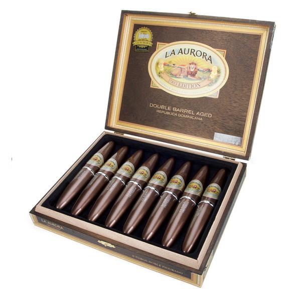 La Aurora Double Barrel Aged No.2 Tubes Cigars - Dark Box of 8