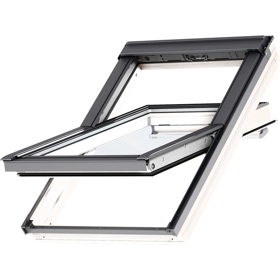 Center-pivot roof window