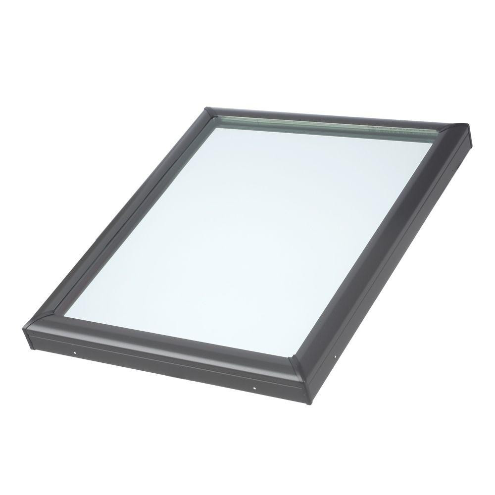 x 46-1//2 in Fixed Curb-Mount Skylight with Tempered Low-E3 VELUX 22-1//2 in