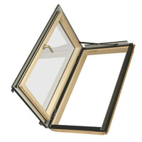 Fakro FWU-L Egress Window 39-1/4 in x 48-1/4 in. Venting Roof Access Skylight with Tempered Glass, LowE