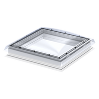 VELUX 23 5/8 x 23 5/8 Flat Roof Skylight Base and Polycarbonate Top Cover CFP 060060 0010