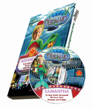 The Little Mermaid Personalized DVD for Kids Case and Disc