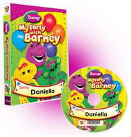 My Party with Barney Personalized DVD for Kids Case and Disc