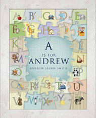 Personalized Alphabet Puzzle Wall Art for Boys Framed