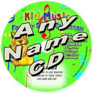 CUSTOM NAME - Friendly Songs Collection Personalized Kids Music CD