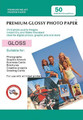 Digital Printing Photo Paper Sheets 50 PACK: 5X7