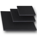 "3/4"" Stretched Black Cotton Canvas  16X16: Box of 5"