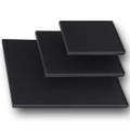 "1-1/2"" Stretched Black Cotton Canvas  14X14: Single Piece"