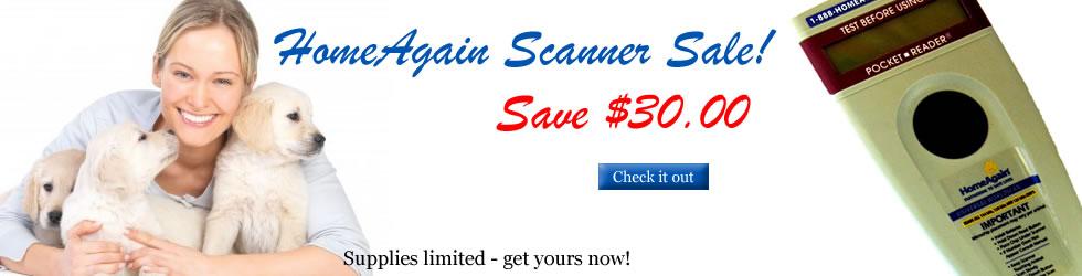HomeAgain Microchip Scanner Sale