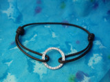 Diamond Bezel Bracelet on Cord
