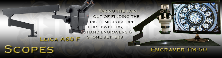 Microscopes for jewelers, hand engravers and stone setters on Engraver.com