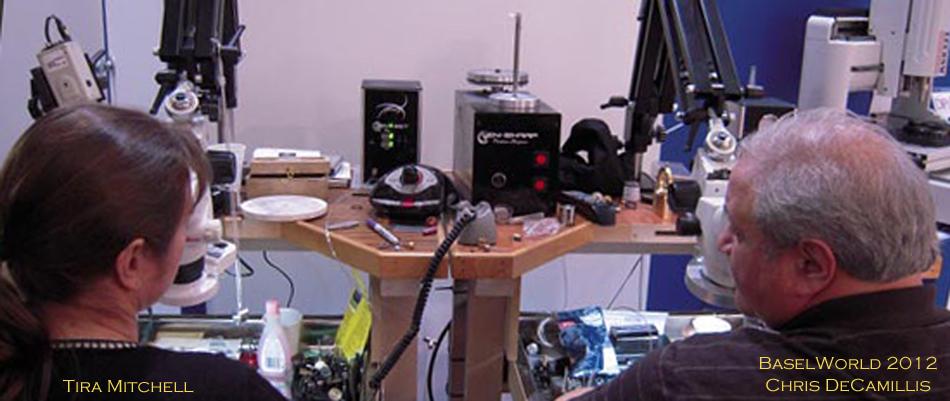 Tira Mitchell and Chris DeCamillis at BaselWorld 2012 using the EnSharp Precision Sharpening System