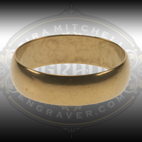 Brass practice ring, Men's size 11. 6.2mm wide. Great for practicing engraving or stone setting.