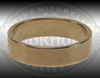 Brass Practice Ring, women's size 7. 4.8mm wide. Great for practicing engraving or setting stones.