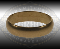 Brass Practice Ring. Size 7, a common woman's size. Domed. 4.8mm wide.