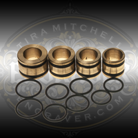 Four brass collets and spare O-Rings for Syenset Orbital Ring Engraving fixture.