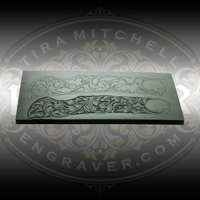 "DeCamillis Knife Casting - Advanced - casting from Christian DeCamillis's Knife Engraving Advanced Kit. Designed to engrave a 3.5"" knife available through Engraver.com."