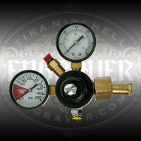 CO2 Regulator for EnSet Hand Engraving and Stone Setting Tools - fits standard CO2 tanks 5lbs and larger.