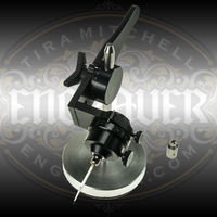 """EnSharp VersaFixture by Syenset is a dual angle graver sharpening fixture. Two nozzle design accommodates both EnSet graver holding collets or 3/32"""" gravers. Graver in picture not included."""