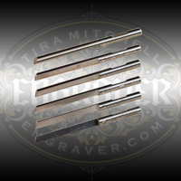 Glardon® Vallorbe Carbide Gravers ground to exact angles for precision engraving and stone setting.  Featuring an indexing notch for fast and easy sharpening & shaping, these long lasting carbon steel gravers will save time and money.  Fits all PulseGraver® collets and any other machine that accepts 1/8 inch graver shanks.