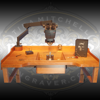 Engraver.com's Precision Bench. Shown with the Leica A60 F Microscope, EnSet Hand Engraving, Setting and Finishing system and other fixtures.