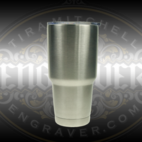 Engravable 18-8 double walled stainless steel vacuum tumbler (30 Ounce) is a practical item that can be beautifully engraved available at Engraver.com
