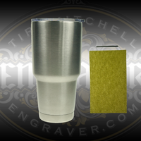Hand Engrave a 30 Ounce Stainless Steel Tumbler with this Engraving Kit. Includes Tumbler, Lid, HSS Graver and 1/4 Sheet Polishing Paper from Engraver.com