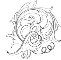 Sample basic scroll design from Tira Mitchell