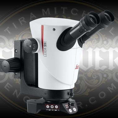 Leica S9E from Engraver.com pictured with Mountable Focusing Arm and Leica LED light (sold separately)