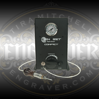 EnSet™ Compact with engraving and setting hand piece. Available at www.Engraver.com.