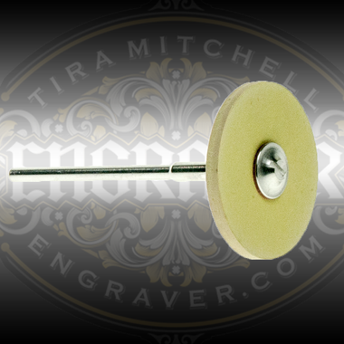 Yellow Rubber Diamond Polishing Wheel by Engraver.com for polishing carbide or High Speed Stainless Steel Gravers