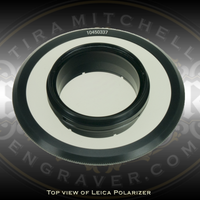 Leica Polarizer for Leica Microscope LED Ring Lights. Available at Engraver.com.  For Leica Ring Lights that fit S9, S6, S4 and A60 series microscopes.