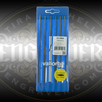 Glardon® Vallorbe Set of 6 Needle Files, 160mm, Cut 0 by Engraver.com