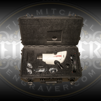 Waterproof Heavy Duty Leica S9 Microscope Case by Engraver.com. Pictured holding Leica S9i Microscope with accessories.