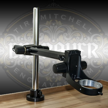 Leica Boom Stand (Swing Arm Stand) with Mountable Focus Arm for S Series microscopes. Available at Engraver.com