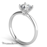 Prong Set Diamond Solitaire Ring for Precision Bench Beginning Stone Setting Class by Joel McFadden