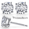 Prong Set Diamond Earrings for Precision Bench Beginning Stone Setting Class by Joel McFadden