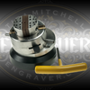 "Ringenie™ 3"" Positioning Ball Vise from Engraver.com.  Shown offset to help keep work centered under a microscope."