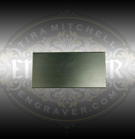 Engraver.com 2x4 inch Steel Practice Plate for engravers, jewelers and setters