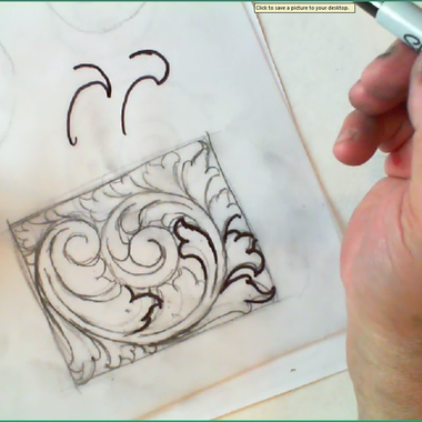 Basic Scroll Design for Engraving and Jewelry with Christian DeCamillis