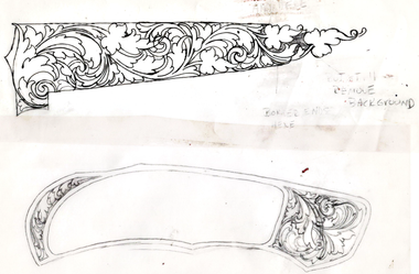 Ornamental Scroll Design for a Knife class by Christian DeCamillis
