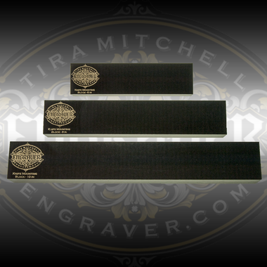 Engraver.com Knife Mounting Blocks - Set of 3 - Includes 6, 8 and 10 inch blocks