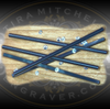 Set of 5 Quick Sharp Carbide Micro Graver Blank for jewelers and hand engravers  Small carbide gravers with a flat index side for fast sharpening and fine detail.   Pictured with 2 mm stones.  1.9 mm x 44 mm.  Only from Engraver.com